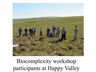 Biocomplexity workshop participants at Happy Valley