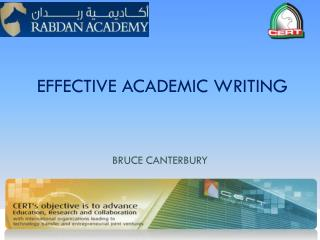 EFFECTIVE ACADEMIC WRITING