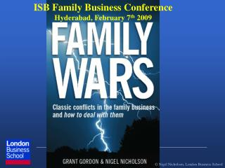 ISB Family Business Conference Hyderabad, February 7 th  2009