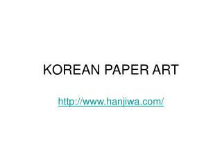 KOREAN PAPER ART