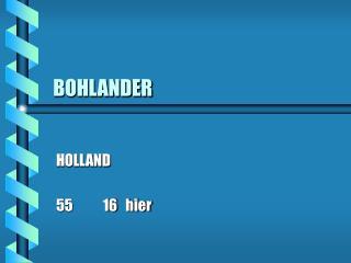 BOHLANDER