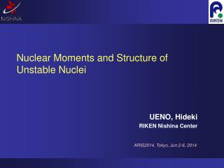 Nuclear Moments and Structure of Unstable Nuclei
