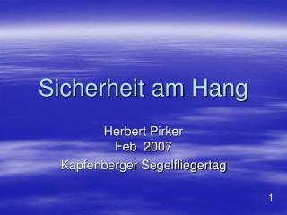 Sicherheit am Hang