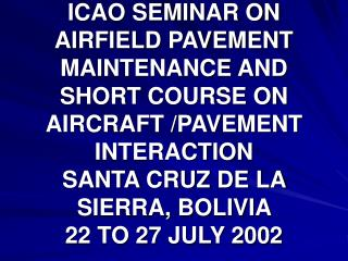 OVERVIEW OF AERODROME MAINTENANCE IN AFRICA