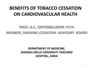 BENEFITS OF TOBACCO CESSATION ON CARDIOVASCULAR HEALTH