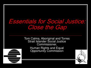 Essentials for Social Justice:  Close the Gap