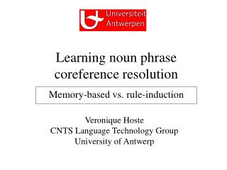 Learning noun phrase  coreference resolution