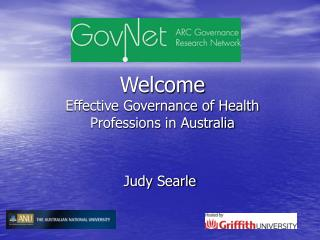 Welcome Effective Governance of Health Professions in Australia