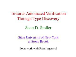 Towards Automated Verification Through Type Discovery