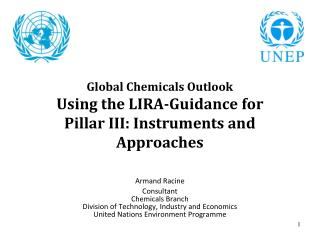 Global Chemicals Outlook Using the LIRA-Guidance for  Pillar III: Instruments and Approaches