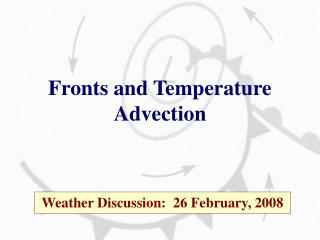 Fronts and Temperature Advection