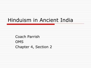 Hinduism in Ancient India