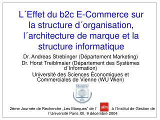 Dr. Andreas Strebinger (Département Marketing)