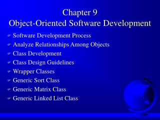 Chapter 9 Object-Oriented Software Development