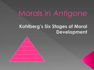 Morals in  Antigone