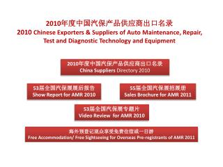 2010 ??????????????? 2010  Chinese Exporters & Suppliers of Auto Maintenance, Repair, Test and Diagnostic Technology and