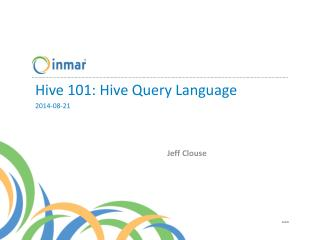 Hive  101: Hive Query Language