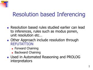 Resolution based Inferencing