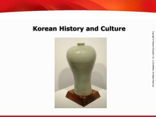 Korean History and Culture