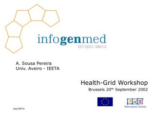 Health-Grid Workshop Brussels 20 th  September 2002