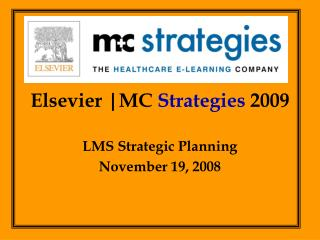 Elsevier |MC  Strategies  2009