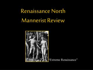 Renaissance North Mannerist Review