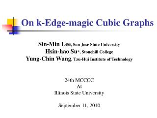 On k-Edge -magic Cubic Graphs