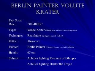 Berlin Painter Volute Krater