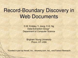 Record-Boundary Discovery in Web Documents