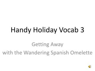 Handy Holiday Vocab 3