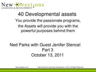 40 Developmental assets