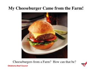 My Cheeseburger Came from the Farm!