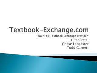 "Textbook-Exchange ""Your Fair Textbook Exchange Provider"""