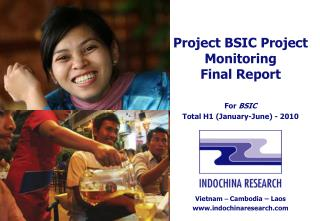 Project BSIC Project Monitoring Final Report For  BSIC Total H1 (January-June) - 2010