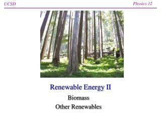 Renewable Energy II