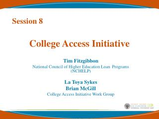 College Access Initiative