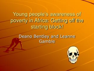 Young people's awareness of poverty in Africa: Getting off the starting block!
