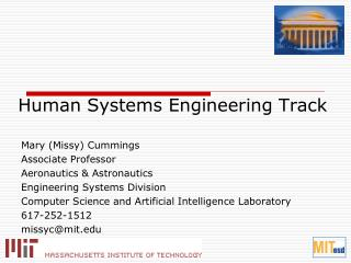 Human Systems Engineering Track