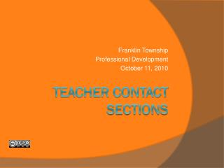Teacher contact Sections