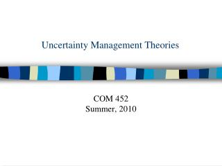Uncertainty Management Theories