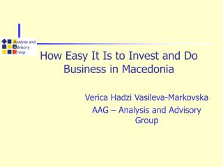 How Easy It Is to Invest and Do Business in Macedonia
