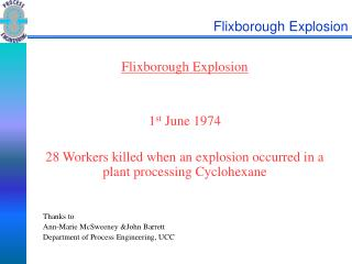 Flixborough Explosion