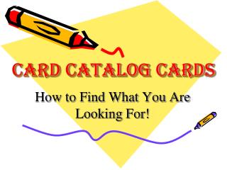 Card Catalog Cards