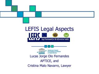 LEFIS Legal Aspects