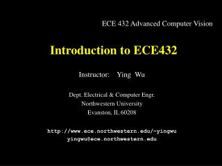 Introduction to ECE432