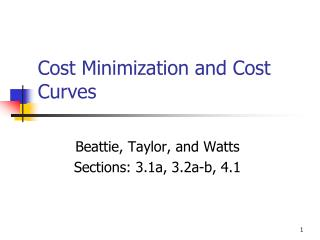 Cost Minimization and Cost Curves