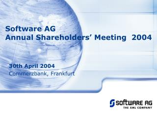 Software AG  Annual Shareholders' Meeting  2004