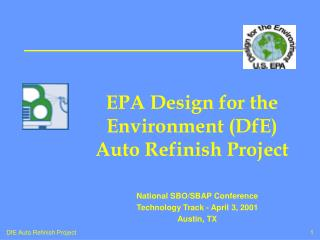 EPA Design for the Environment (DfE) Auto Refinish Project