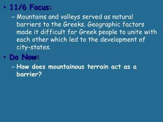 11 /6 Focus: