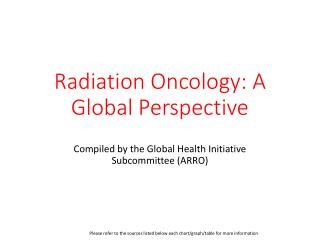 Radiation Oncology: A Global Perspective